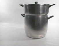 vaschetta del cuscus - vaschetta o piatto del vapore Fotografie Stock Libere da Diritti