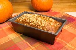 Vaschetta del pane della zucca fresca dal forno Fotografia Stock