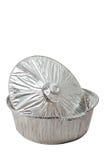 Vaschetta di alluminio del grafico a torta Fotografia Stock Libera da Diritti