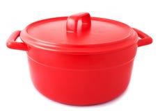 Vaschetta di colore rosso immagini stock libere da diritti