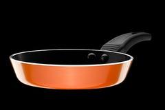 Vaschetta di frittura arancione Fotografia Stock