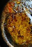 Vaschetta di frittura sporca. fotografia stock libera da diritti