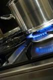 Vaschetta e bruciatore Fotografia Stock