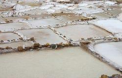 Vaschette del sale nel Perù Fotografia Stock Libera da Diritti
