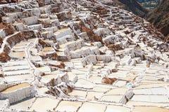 Vaschette a Maras, Perù del sale del Inca Fotografie Stock Libere da Diritti