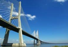 Vasco Da Gama. Bridge.Lisbon.One of the longest in Europe royalty free stock images