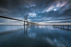 Vasco da Gama-Brücke Lizenzfreie Stockbilder