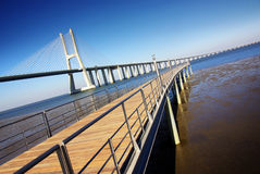 Vasco da Gama Bridge Royalty Free Stock Image