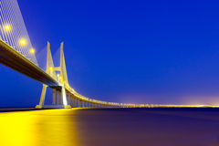 Vasco da Gama bridge. Royalty Free Stock Images