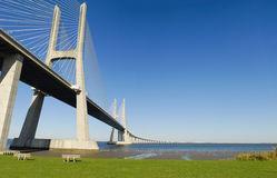 Vasco da Gama Bridge. Stock Image