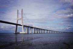 Vasco da Gama Bridge Royalty-vrije Stock Afbeelding