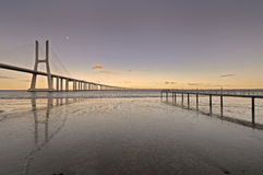 Vasco da Gama Bridge Royalty Free Stock Images