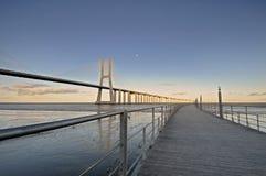 Vasco da Gama Bridge Royalty Free Stock Photo