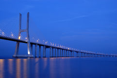 Vasco da Gama bridge, Biggest bridge of Europe Royalty Free Stock Image