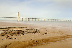 Vasco da gama bridge Royalty Free Stock Images