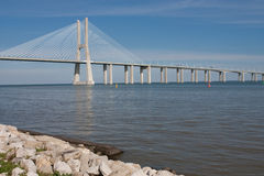 Vasco da Gama bridge - Lisbon Royalty Free Stock Image