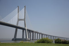 Vasco da Gama bridge in Lisbon Royalty Free Stock Photos