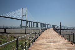 Vasco da Gama bridge, Lisbon Royalty Free Stock Images