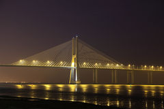 Vasco da Gama bridge, Lisbon stock photo