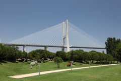 Vasco da Gama bridge, Lisbon Stock Images