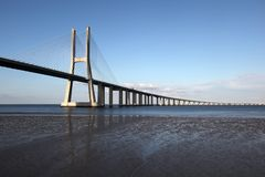 Vasco da Gama Bridge in Lisbon Stock Photography