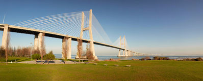 Vasco da Gama bridge in Lisbon Royalty Free Stock Photo