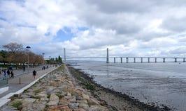 Vasco da Gama Bridge - Lisbon Royalty Free Stock Images