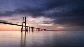 Vasco da Gama Bridge. Lisbon Stock Photography