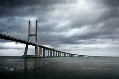 Vasco da Gama Bridge. Lisbon 2016 stock images