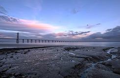 Vasco da Gama Bridge in Lisbon Stock Photography