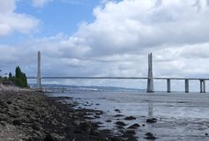 Vasco da Gama Bridge - Lisbon Stock Photography