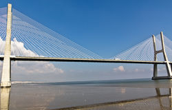 Vasco da Gama Bridge in Lisbon, Portugal Stock Photo