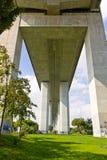 Vasco da Gama Bridge in Lisbon, Portugal Stock Images
