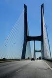 Vasco da Gama Bridge in Lisbon, Portugal Royalty Free Stock Images