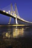 Vasco da Gama bridge, Lisbon, Portugal Royalty Free Stock Images