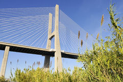 Vasco da Gama bridge, Lisbon, Portugal Stock Photos