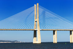 Vasco da Gama bridge, Lisbon, Portugal Stock Image