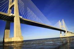 Vasco da Gama bridge, Lisbon, Portugal Royalty Free Stock Photos