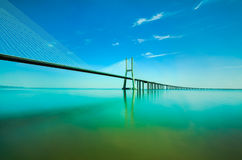 Vasco da Gama bridge, Lisbon Stock Photo