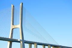 Vasco da Gama Bridge in Lisbon Portugal Royalty Free Stock Image