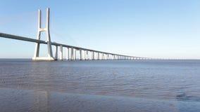 Vasco da Gama bridge in Lisbon Portugal stock video footage
