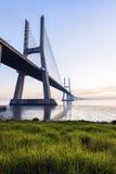 Vasco da Gama Bridge in Lisbon Royalty Free Stock Photography