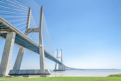 Vasco da Gama bridge in Lisbon Royalty Free Stock Images