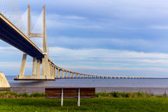 Vasco da Gama bridge, Lisbon, Portugal Stock Photography
