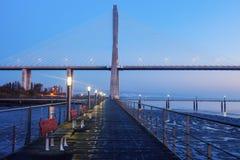 Vasco da Gama Bridge in Lisbon Stock Photo