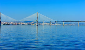 Vasco da Gama Bridge, Lisbon, Portugal Royalty Free Stock Image