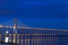 Vasco da Gama Bridge in Lisbon stock image