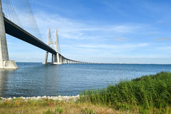 Vasco da Gama Bridge - Lisbon, Portugal Royalty Free Stock Photos