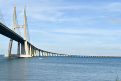 Vasco da Gama Bridge - Lisbon, Portugal Stock Photo