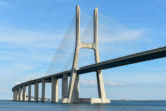 Vasco da Gama Bridge - Lisbon, Portugal Royalty Free Stock Images